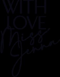 With Love, Miss Jenna